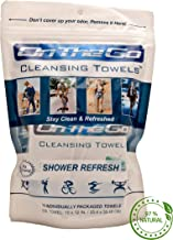 On The Go Towels Shower Refresh Large Body Wipes (10)