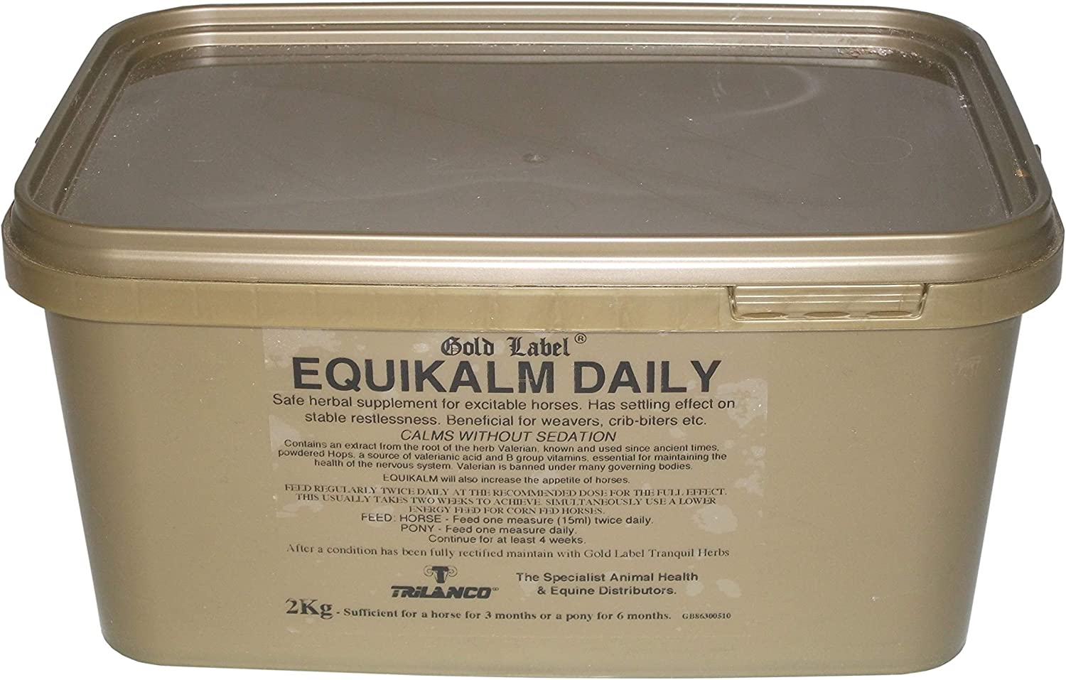 Equikalm Daily, Horse Calming, gold Label, Horse Supplement, 2 KG
