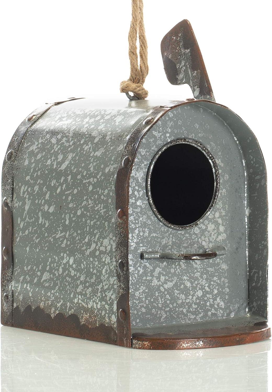 Cheap Drew DeRose Primitive Mailbox Galvanized Silver Metal Tone x 8 shipfree 9