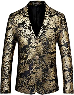 Sportides Men's Casual Slim Fit Stylish Printed Mens Two Button Blazer Jacket Suits JZA134