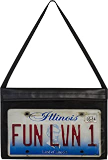 C-Line License Plate Holder with Hanging Strap, Stitched
