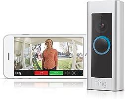 Ring Video Doorbell Pro - Videoportero 1080 HD con timbre Chime incluido, audio bidirecciona, detección de movimiento y wifi, 4 placas colores varios