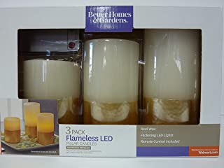 3 Pack Flameless LED Pillar Candles
