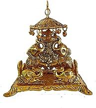 Anshika International Metal singhasan Idol & Figurine Metal Statue for Home Decor (Gold: God Singhasan)