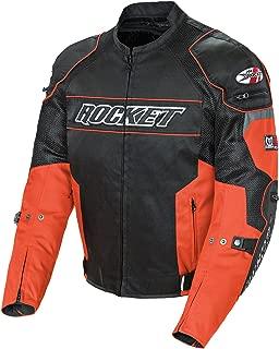 M MOTORCYCLE MOTORBIKE ARMOURED MENS WITH PROTECTORS CORDURA WATERPROOF JACKET BLACK//ORANGE CJ-9487