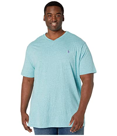 Polo Ralph Lauren Big & Tall Short Sleeve V-Neck T-Shirt (Watchhill Blue Heather) Men