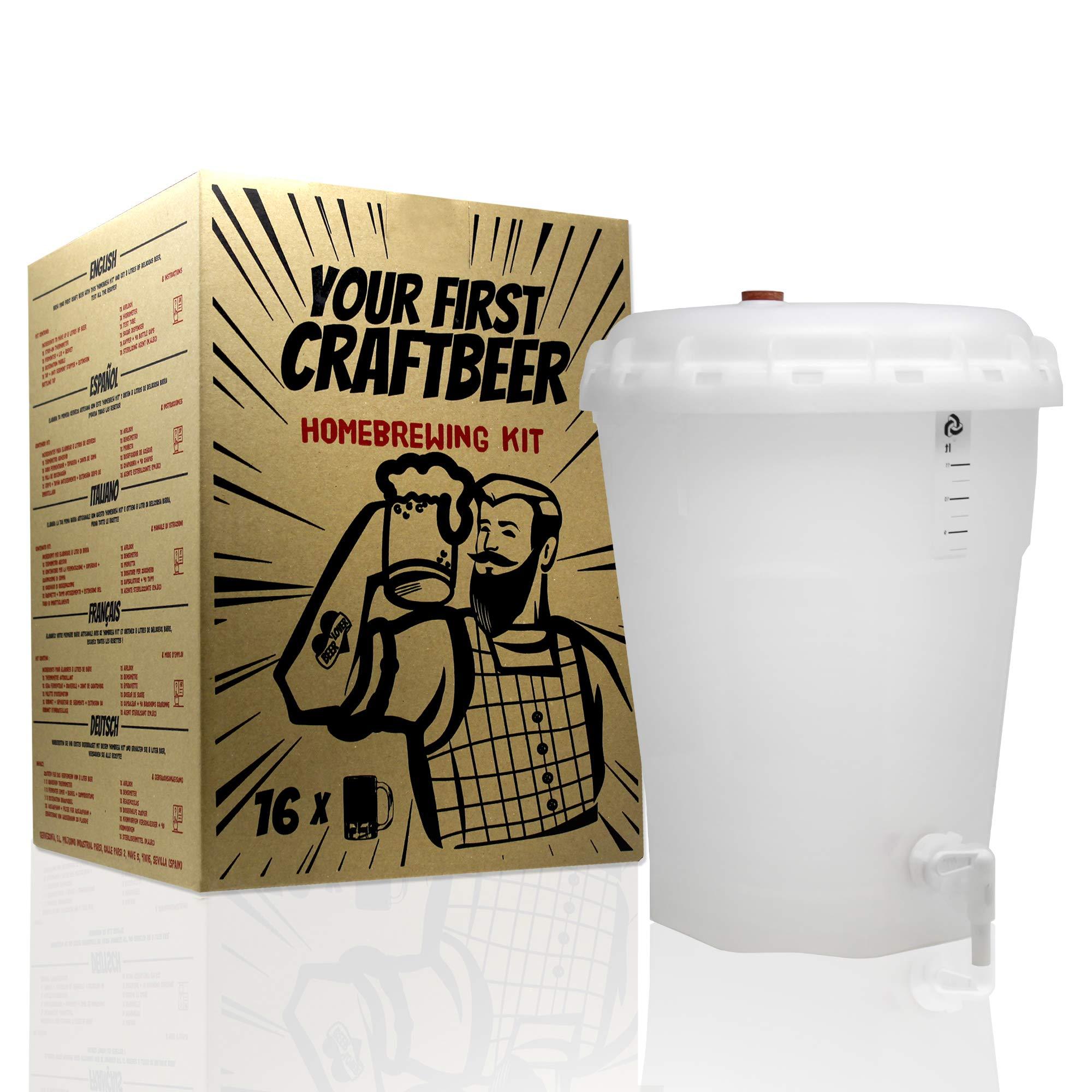 Kit de extracto para hacer cerveza Pale Ale   Tu primera cerveza casera   8 litros   Incluye densímetro   Elabora cerveza artesanal: Amazon.es: Hogar