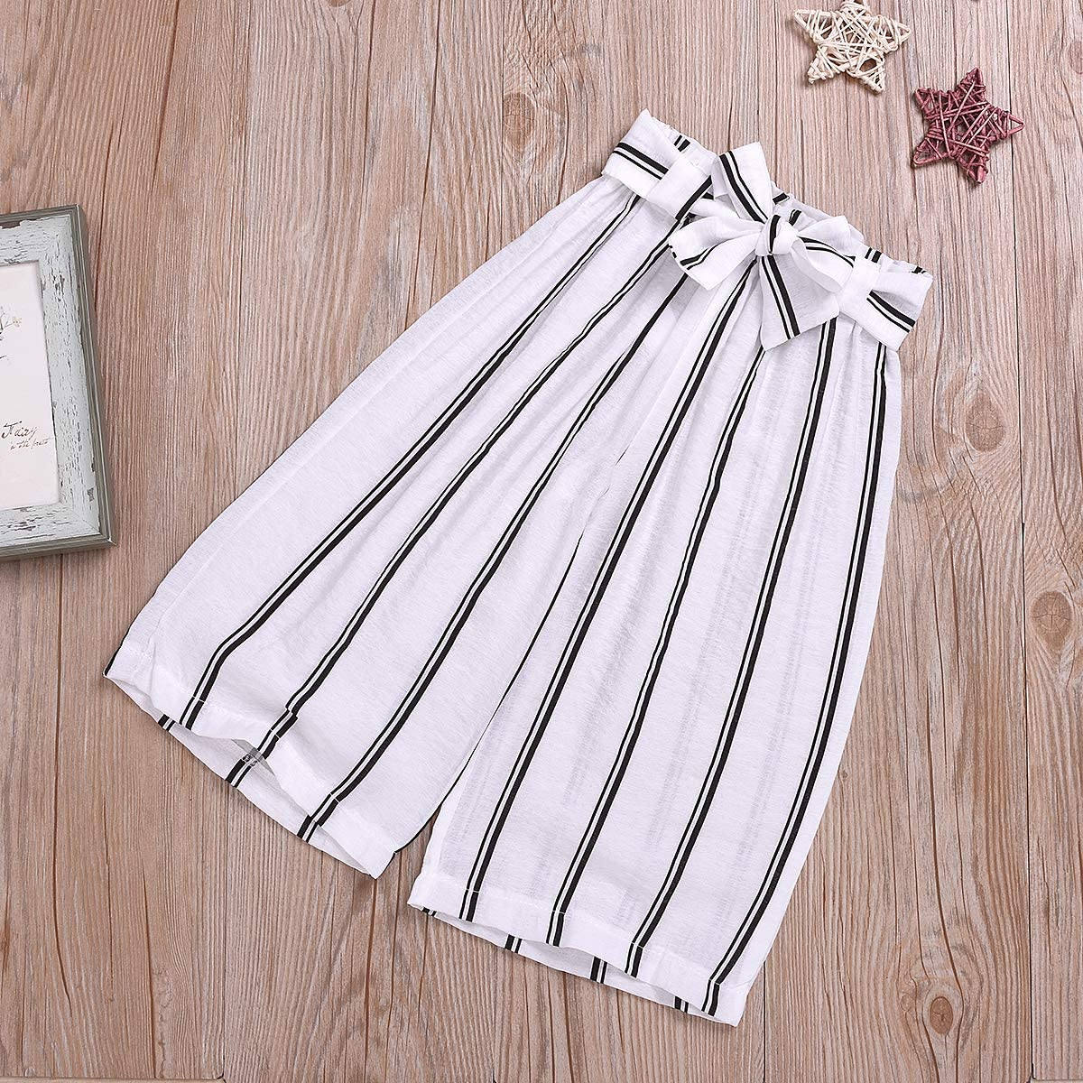 Striped Maxi Skirts Dress Autumn Clothing Set Kids Girl Boho Outfits Fly Sleeve Shirts Top