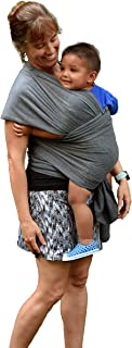 Baby Carrier Wrap: Soft, Stretchy, Breathable Cotton Baby Wrap, Baby Sling, Nursing Cover Up for use with Newborn-Toddler: Evenly distributes Weight for More Comfortable Carrying (Dark Grey)