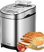 Bread Maker, 19 Setting(13 Program, Nut Dispenser Setting, 3 Crust Color & 2 Loaf Sizes), AICOOK 2LB Stainless Steel Bread...