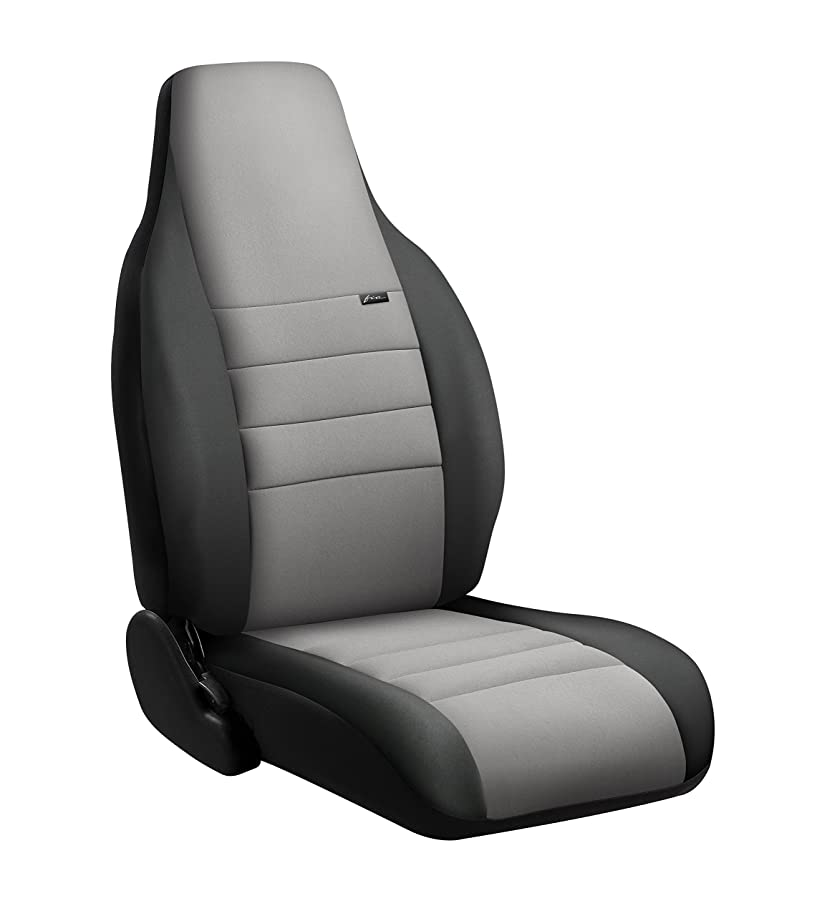 FIA NP99-41 Black with Gray Cover (Front Bucket Seats/Neoprene Center Panel)