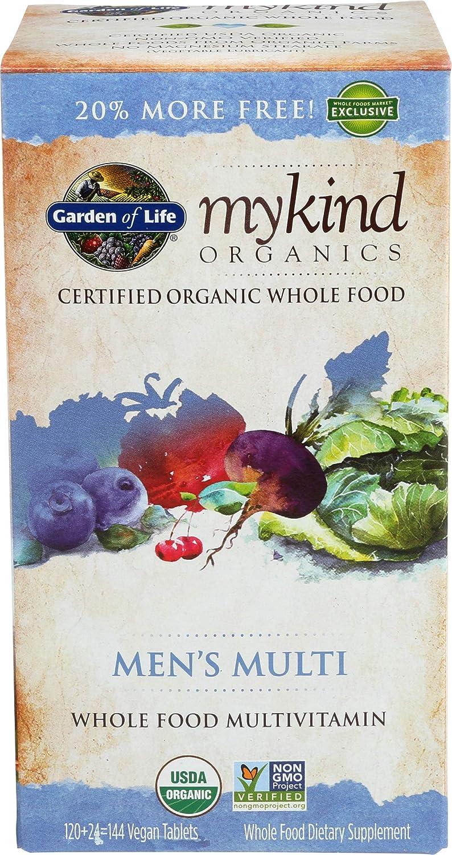 Garden Of Life, Multivitamin Mykind Men's Organic, 144 Tablets