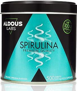 comprar comparacion Espirulina Ecológica Premium para 9 Meses | 500 comprimidos de 500mg con 99% BIO Spirulina | Vegano - Saciante - DETOX - P...
