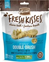 Merrick Fresh Kisses Extra Small Oral Care Dental Dog Treats; for Dogs 5-15 lbs