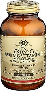 Solgar Ester-C Plus 1000 mg Vitamin C (Ascorbate Complex), 90 Tablets - Gentle On The Stomach & Non Acidic - Antioxidant &...