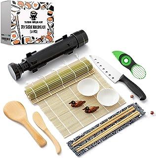 Sushi Ninja - Sushi Making Kit w/ Bazooka Sushi Roller | Avocado Slicer | Sushi Mat | Bamboo Rolling Mat | Sushi Knife | S...
