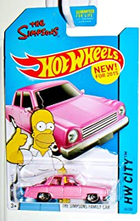 Hot Wheels 2015 HW City The Simpsons Family Car 56/250, Pink