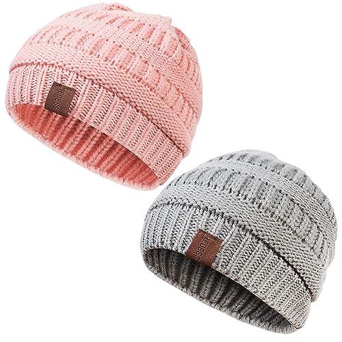 29091882 REDESS Kids Winter Warm Fleece Lined Hat, Baby Toddler Children's Beanie  Pom Pom Knit Cap