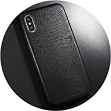 PU Leather Pattern Phone Case for iPhone 7 8 6 6s Plus Case Crocodile Skin Soft Back Cover for iPhone X xs max XR Case,IK51-EYuBlack,for iPhone Xs max