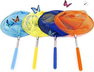 Extensible de 36cm /à 85 cm F Fityle Filet de P/êche T/élescopiques Filet de Papillon Attrape-Insectes pour Enfants
