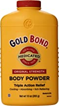 Gold Bond Medicated Powder, 10 Ounce Containers (Pack of 3), Helps Soothe and Relieve Skin Irritations and Itching, Cools, Absorbs Moisture, Deodorizes