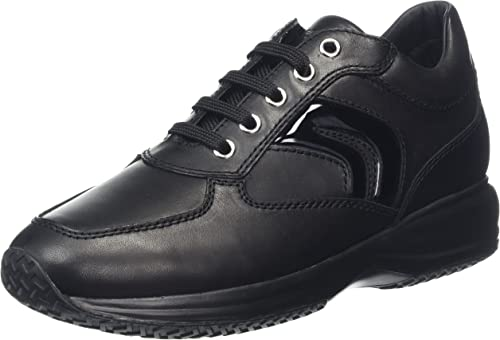 Geox D Happy B-Smooth Leather, Hauszapatos Altas para mujer