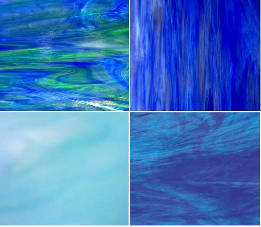 BLUE Wissmach Stained Glass Pack