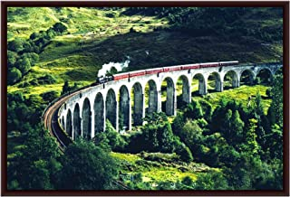 The Artist Beautiful Nature Scenery Glenfinnan Railway Viaduct in Scotland HD Print Art Framed Without Glass Home Décor Wa...