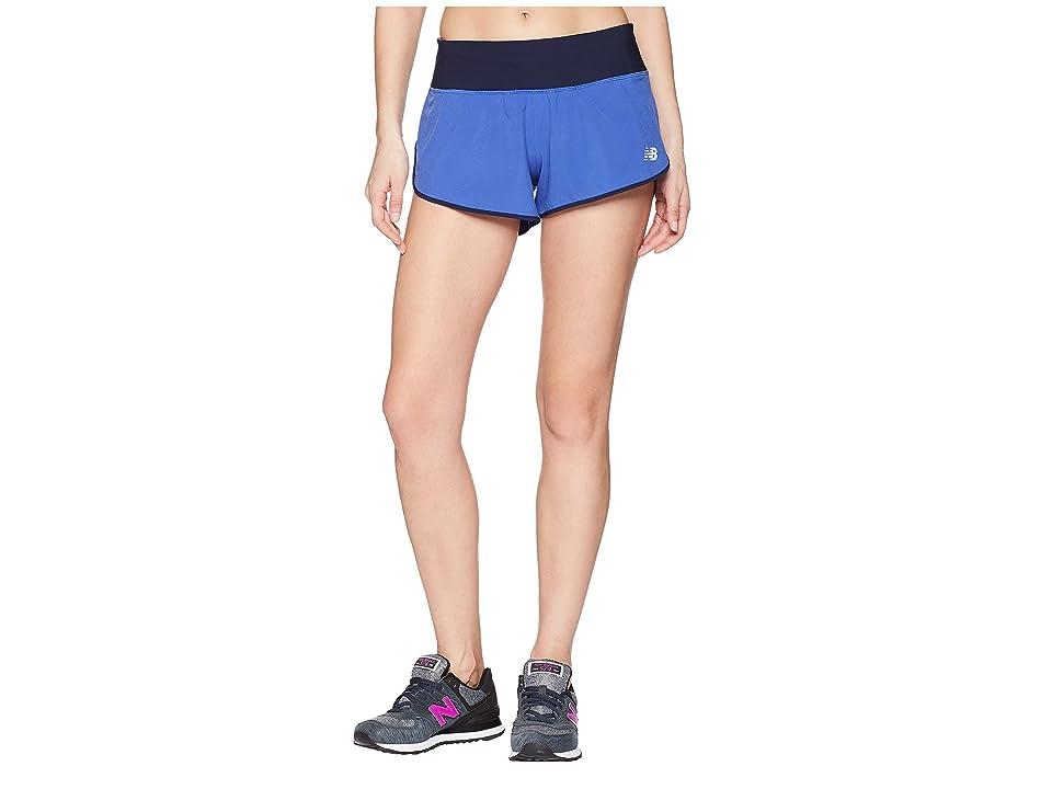New Balance 3 Impact Shorts (Blue Iris) Women