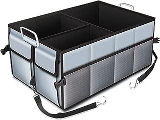 Madbike Bote de Basura para Autos con Tapa y Bolsillos de Almacenamiento Accesorios para Autos a Prueba de Agua y a Prueba de puerros Organizador port/átil y Plegable