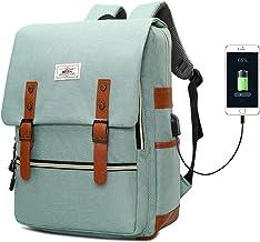 Slim Vintage Laptop Backpack, Unisex Work Travel Fashion Backpack for Women Men, Water Resistant College School Bag for Gi...