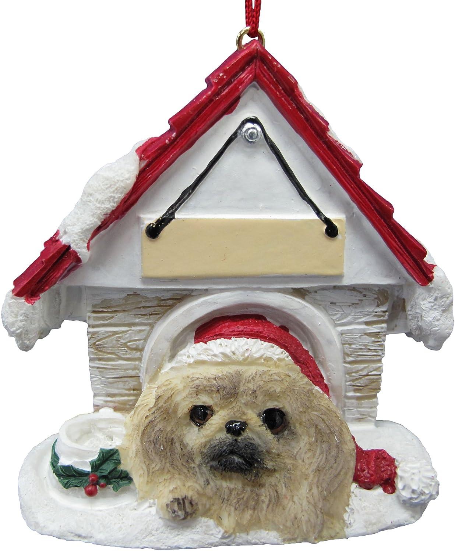 Personalized Doghouse Ornament  Pekingese