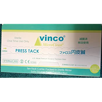 ファロス 円皮鍼100本入り(SJ-525) - 太さ0.18mm×針長0.9mm