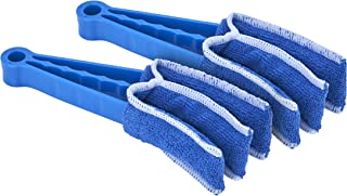 Window Blind Cleaner Duster with Microfiber Sleeve (2 Pack) Blue 3 Cleaning Heads Brush Ultra Microfiber Duster for Window...