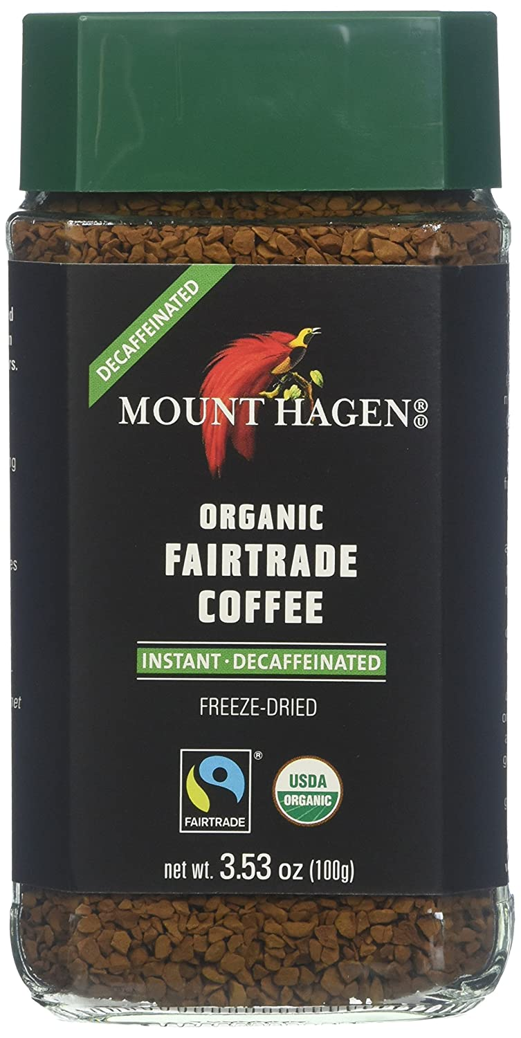 Mount Hagen Organic Freeze Dried 3.53 Instant OFFicial store oz Fees free Coffee Decaf
