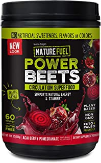 Nature Fuel Power Beets Super Concentrated Circulation Superfood Dietary Supplement – Delicious Acai Berry Pomegranate Fla...