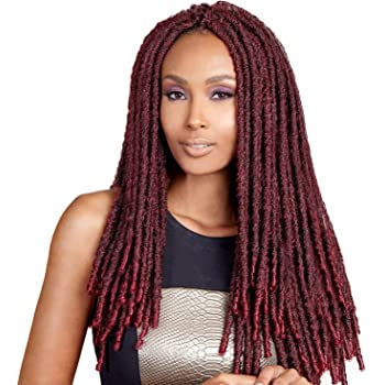 Bobbi Boss Synthetic Hair Crochet Braids Faux Locs Style Senegal Bomba Dreadlocks (4-Pack, 1)