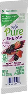 Crystal Light Pure Energy Mixed Berry Drink Mix (48 On the Go Packets, 8 Boxes of 6)