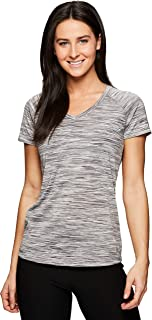 Active Women's Space Dye Short Sleeve Yoga T-Shirt