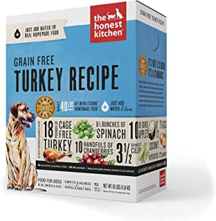 The Honest Kitchen Embark: Natural Human Grade Dehydrated Dog Food, Grain Free Turkey, 10 lbs (Makes 40 lbs)