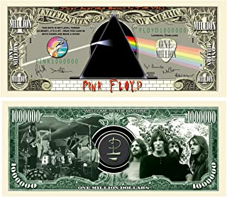 American Art Classics Set of 5 - Pink Floyd Million Dollar Collectible Bill - Limited Edition Collectible Novelty Million Dollar Bill - Great Gift for Floyd Fans