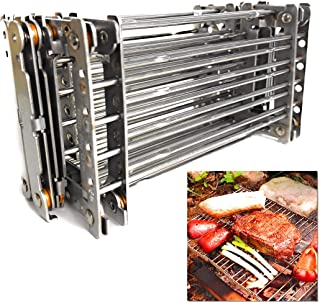 Bitty Big Q Stainless Steel Ultra Compact Portable Lightweight Camping Grill