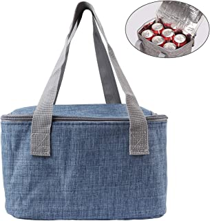 Amariver Navy Insulated Baby Bottle Tote Bags Breast Milk Baby Bottle Cooler Bag, Ice Pack Multi-Function Lunch Picnic Bag for Travel
