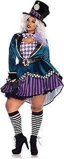 Leg Avenue Women's Plus Size Delightful Mad Hatter Costume