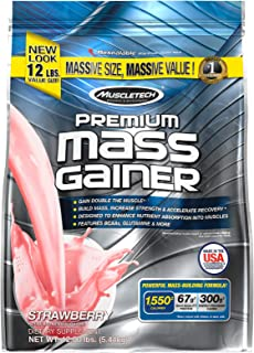 Whey Protein Mass Gainer, MuscleTech Premium Mass Gainer, Mass Gainer Whey Protein Powder, Max-Protein Weight Gainer for M...