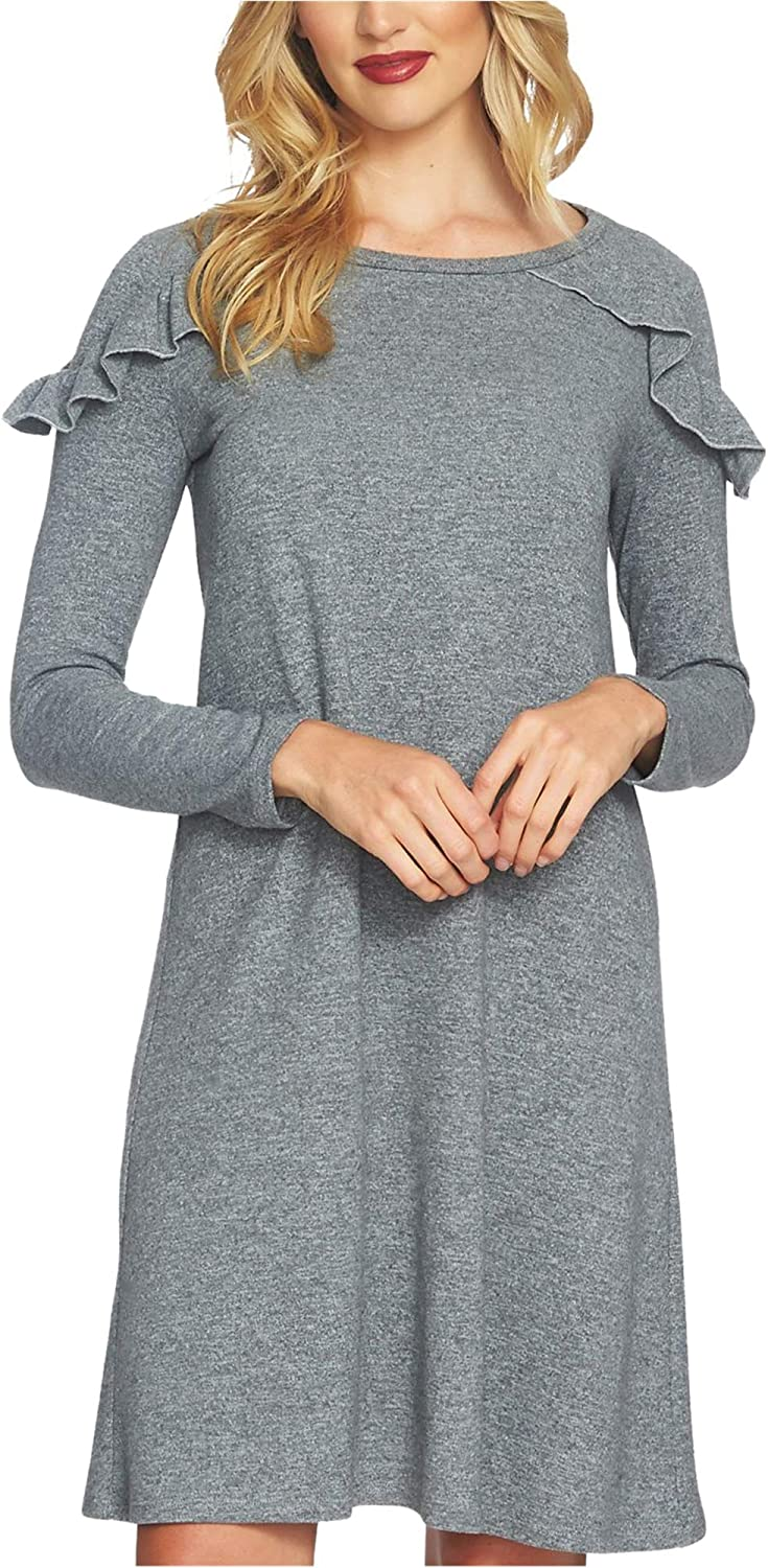 1.State Womens Ruffled Tunic Dress