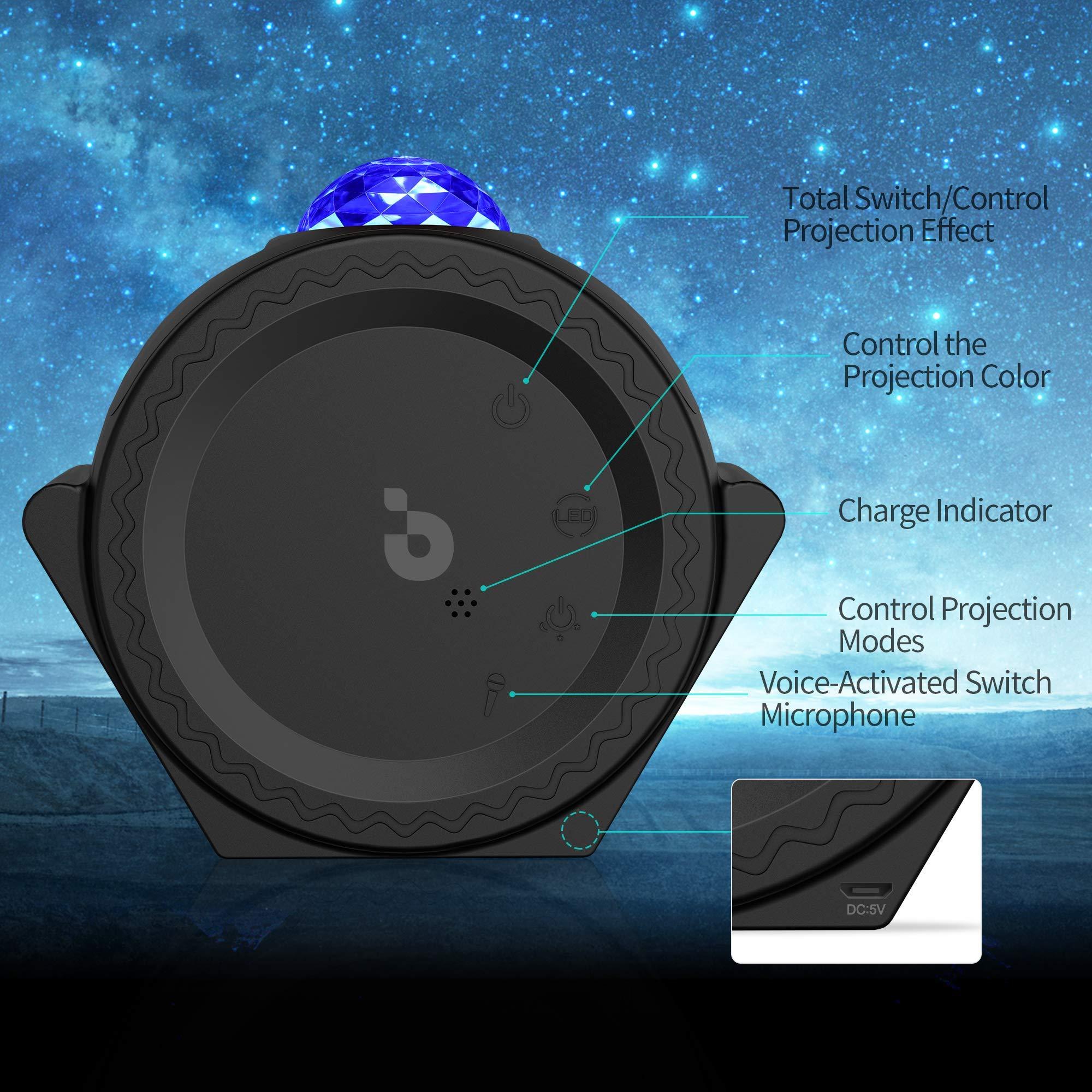 Proyector de estrellas, 3-1 Ocean Wave Proyector Estrella Cielo ...