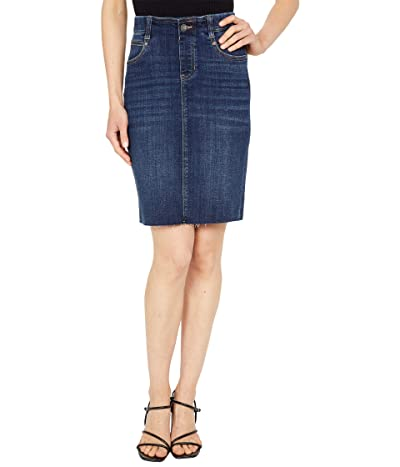 Liverpool Gia 20 Pull-On Cut Hem Pencil Skirt in Lowry