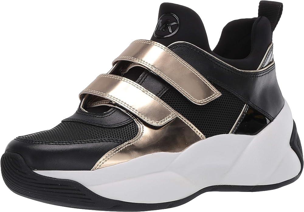 Michael kors,scarpe sportive per donna,sneakers,in pelle e tessuto 43F9KEFS5D