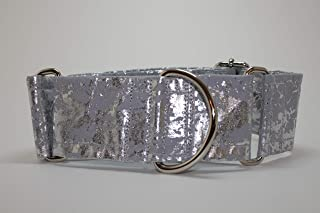 Metallic Silver Martingale Collar